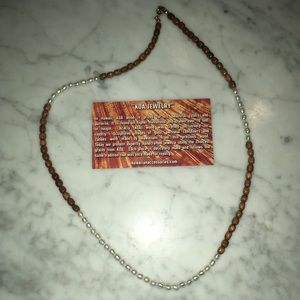 Hawaiian KOA wood beaded necklace